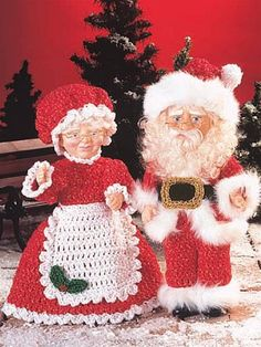 Seasonal Crochet - Winter Crochet Patterns - Santa and Mrs. Santa