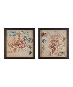 Another great find on #zulily! Coral Medley Wall Art - Set of Two #zulilyfinds