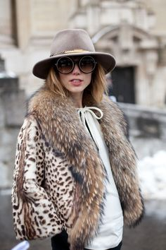 Street Style. HAUTE COUTURE: Spring 2013. An incognito take on glam, this girl is all about the extras. harpersbazaar.com