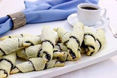 Poppy Seed Rugelach pastries are formed in a crescent shape by rolling a triangular shape of dough around a filling. The cream cheese dough makes these pastries unbelievably soft and tender. Ukrainian Recipes, Jewish Recipes, Russian Recipes, Russian Desserts, European Cuisine, Crescent Shape, Cupcake Cookies, Christmas Baking, Cookie Recipes