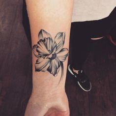 Daffodil Tattoo Black Ink