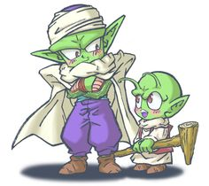 Dende and Piccolo. This is freaking adorable. I love Piccolo and Dende so much! Dragon Ball Z, Martial, Chibi, Kai, Popular Manga, Dc Anime, Db Z, I Love Anime, Kawaii Cute