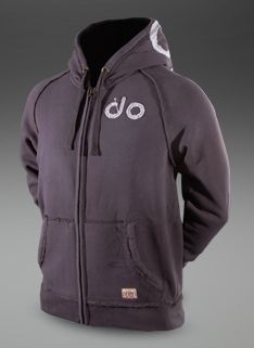 dounlimited Mens Washed Out Zip Hoody - Mens Clothing - Coal