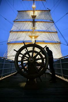 helm and sails Yacht Fashion, Sailing Adventures, Ship Wheel, Yacht Boat, Sail Away, Set Sail, Speed Boats, Tall Ships, Nautical Theme