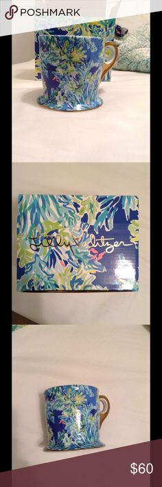 Lilly Pulitzer GWP wade and sea mug Wade and sea print, in original box, never used! Excellent condition! Lilly Pulitzer Other