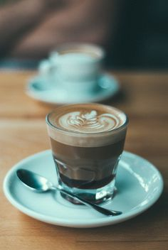 Coffee love the baby blue cup & foam →follow← my board ♡ͦ* ¢σffєє σвѕєѕѕє∂ ♡ͦ* @ ★☆Danielle ✶ Beasy☆★