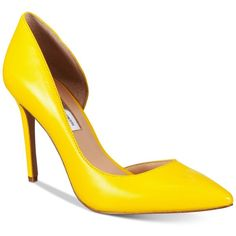 Inc International Concepts Women's Kenjay d'Orsay Pumps, (340 RON) ❤ liked on Polyvore featuring shoes, pumps, heels, sun yellow, heel pump, d orsay pumps, d'orsay pumps, inc international concepts shoes and yellow heeled shoes