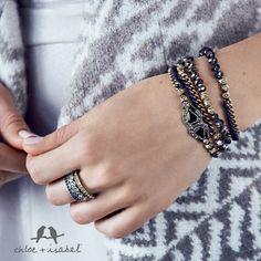 A beautiful twist on the wrap bracelets! Monarch Multi-Wrap Bracelet $48  danasjewels.com