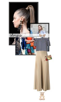 """Paris Fashion Week: stripes"" by zaynsoverdose ❤ liked on Polyvore featuring Balmain, Givenchy, Linda Farrow, Topshop, Giuseppe Zanotti and Gucci"