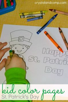 Free Kid Color Pages for St. Patrick's Day