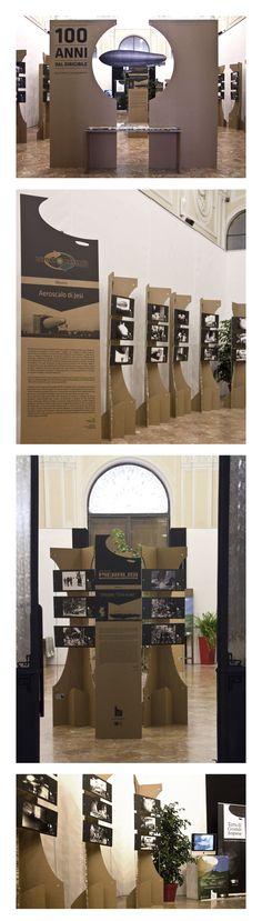 Installazione Mostra Terra di Grandi Imprese, Jesi - Palazzo dei Convegni.