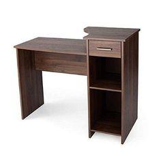 Wood Computer Desk Walnut Home Office College Dorm Room Kids Student Workstation #DevineBestBuys
