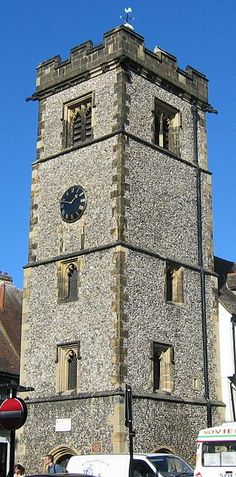 St Albans - The early century Clock Tower - photo by Ghouston London Brighton, London England, Ancient Buildings, St Albans, Medieval Town, 15th Century, Small Towns, Saints, Around The Worlds