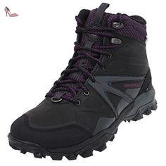 merrell capra glacial ice mid waterproof chaussures de randonnee hautes femme noir black