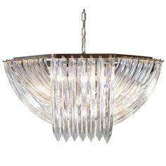Murano Glass Chandelier by Venini   From a unique collection of antique and modern chandeliers and pendants at https://www.1stdibs.com/furniture/lighting/chandeliers-pendant-lights/