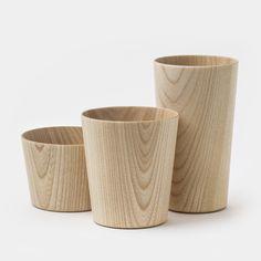 Kami Wood Cups by Masanori Oji