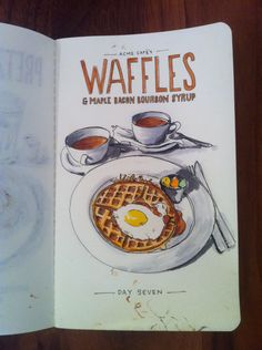 Day Seven: Waffles and maple bacon bourbon syrup from Acme Cafe.