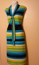 WOMEN'S DRESS BY GLAMOUR SIZE 18W NAVY, WHITE, AQUA, LIME COLOR