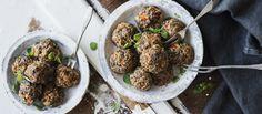 Härkäpapupyörykät Vegan Treats, Vegan Foods, Nom Nom, Recipies, Gluten Free, Beef, Cooking, Ethnic Recipes, Koti
