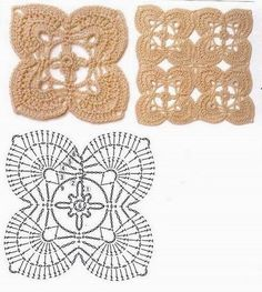 Square Flower Motif with chart ....... from http://crochet-plaisir.over-blog.com/categorie-12338679.html