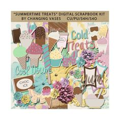Summertime Treats Digital Scrapbook Kit Summer by ChangingVases