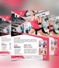 Gym flyer Bundle by Designvillages Free Business Card Design, Business Flyer, Best Gym, Lorem Ipsum, Stylists, Fitness