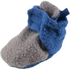 Luvable Friends Newborn Baby Boys Scooties Fleece Booties, Newborn Boy's, Size: 12 - 18 Months, Blue