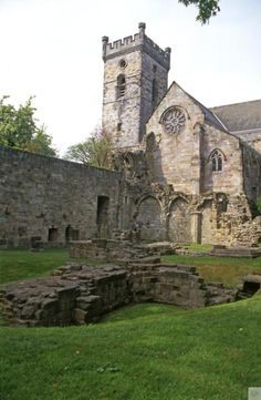 Culross Abbey, Kingdom of Fife. Ruins comprising of the nave, cellars and domestic buildings of a 13th Century Cicstercian Monastery.