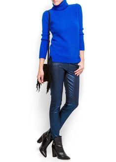 Blue glitter slim jeans