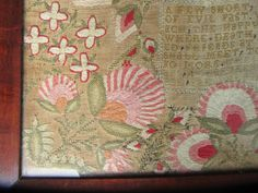 scottish silk wool sampler c1842 a few short years of evil past thistles love birds etc - photo angle #4