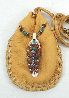 Image detail for -Native American Indian Buckskin Medicine Bag