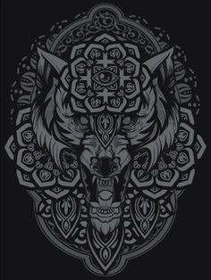 Lobo místico ancestral