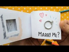 Flipbook Proposal with Hidden Engagement Ring Compartment (ORIGINAL) - YouTube