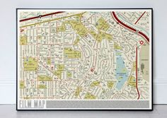 I really, really want this street map print of over 900 films.