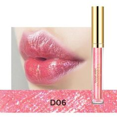 Glitter lip gloss ($10) ❤ liked on Polyvore featuring beauty products, makeup, lip makeup and lip gloss