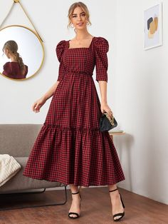 Girls Fashion Clothes, Modest Fashion, Fashion Dresses, Stylish Dresses For Girls, Casual Dresses, Modest Dresses For Women, Simple Dresses, Classy Dress, Classy Outfits