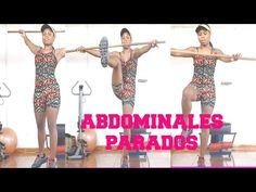 ABDOMINALES PARADOS CON BASTON - YouTube
