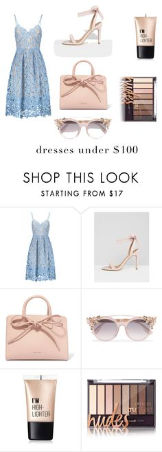 """dresses under  $100"" by jukic-klara ❤ liked on Polyvore featuring ASOS, Mansur Gavriel, Jimmy Choo and Charlotte Russe"