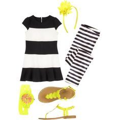 girls black & yellow by vividpretty on Polyvore featuring Collezio