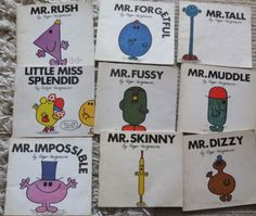 THE-MR-MEN-books-x-9-1st-editions-Roger-Hargreaves-Mr-Tall-Fussy-Rush-et-al