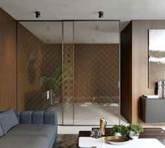 Sliding system Premium and Sting doors with Grafoglass. Luxury Interior, Interior Design, Cladding Systems, Color Harmony, Dark Interiors, 3d Visualization, State Art, Peru, Catalog
