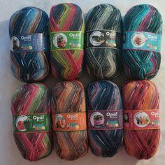 """New in my shop. Opal """"Fresh & Juicy"""" 4 ply fingering weight sock yarn"""