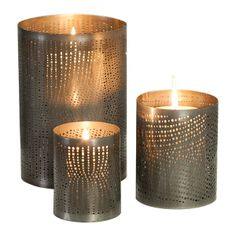 Fiesta 'Dotti' oval candle holders from Globe West