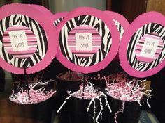 Baby girl shower. love these, but use different colors