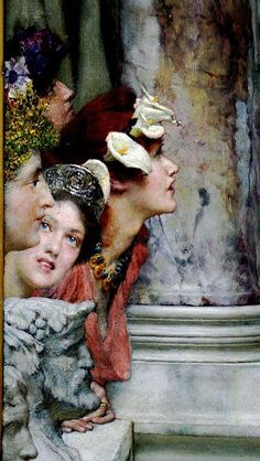 "My Bohemian Aesthetic Sir Lawrence Alma-Tadema, ""Spring"" detail, 1894 Lawrence Alma Tadema, Dutch Painters, Pre Raphaelite, Beautiful Paintings, Oeuvre D'art, Portraits, Love Art, Painting & Drawing, Art History"