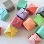 Cubitos de papel para decorar