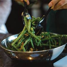 Green Beans with Garlic Vinaigrette | MyRecipes.com