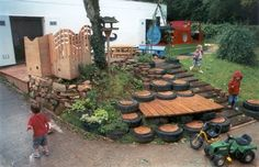IT CAN BE A CHALLENGE TO HAVE A ATTRACTIVE PLAY AREA IN A LANDSCAPED YARD, BUT IT CAN BE DONE.