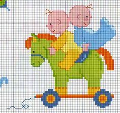 O cavalo de pau (assim como cataventos, pássaros presos por um cordão e bonecas) multiplicaram-se principalmente a partir do século XV, e s...
