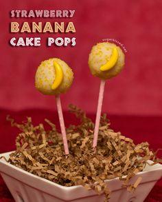Strawberry Banana Cake Pops